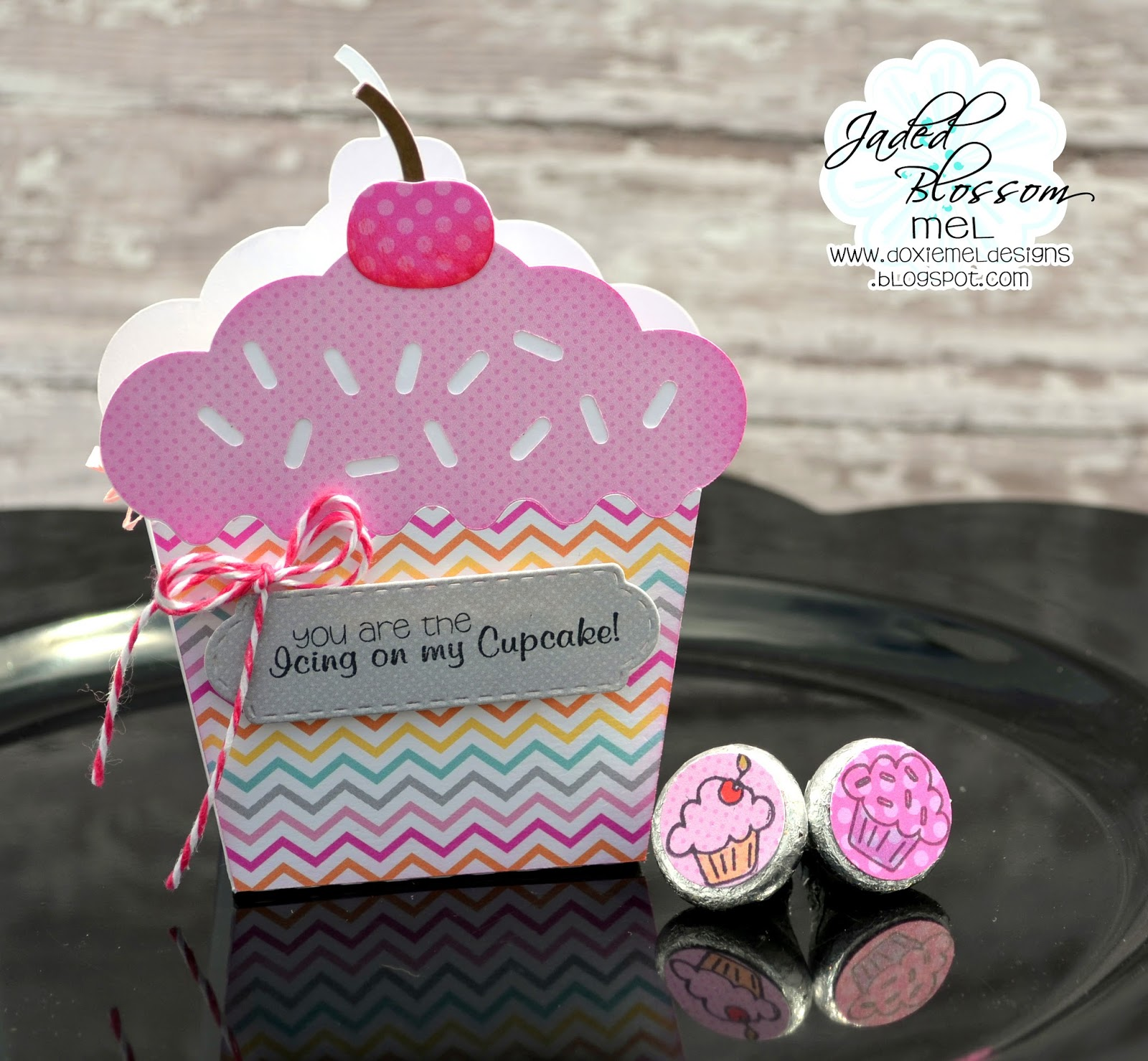 Doxie Mel Designs: Jaded Blossom May Challenge :: Cupcake Treat Holder