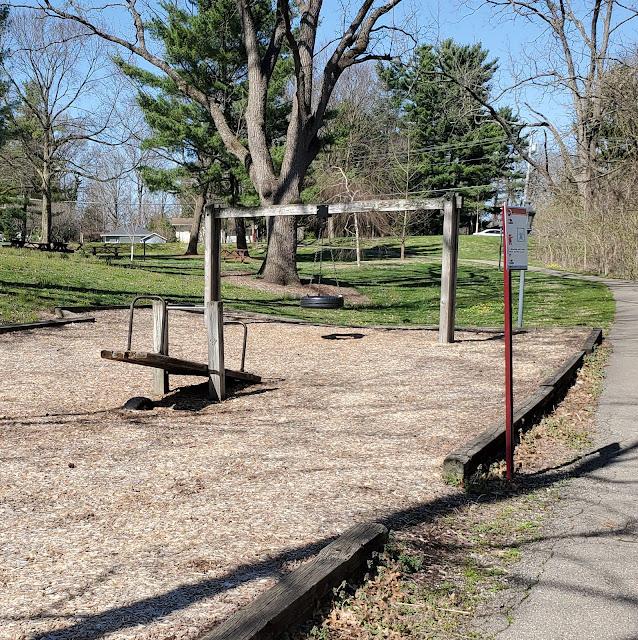 Rustic playground at Livingston House Park in Reynoldsburg, Ohio