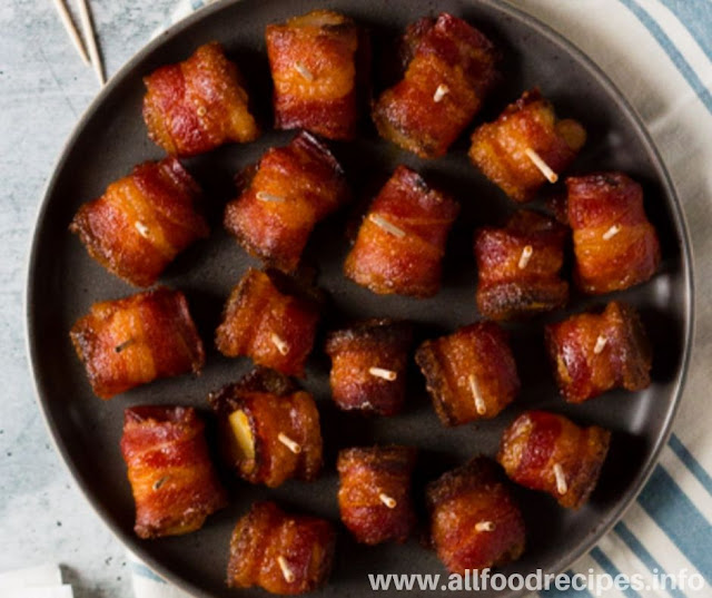 Brown Bacon Wrapped Pinaple