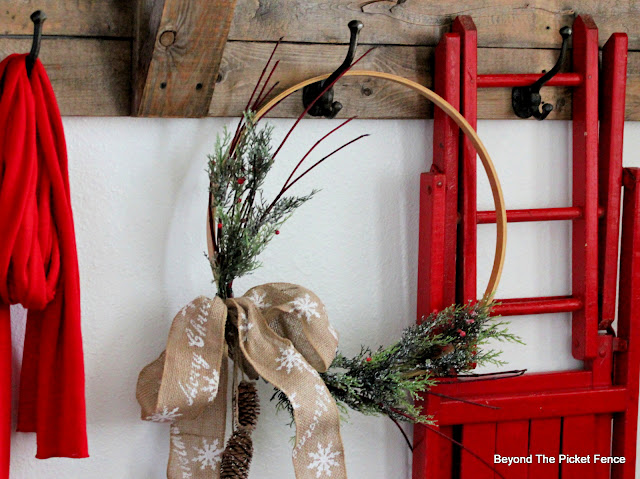 Create Custom Ribbon and an Easy DIY Wreath for Christmas