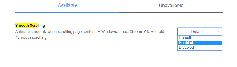 أفضل Chrome Flags للتمرير السلس#