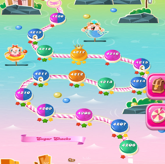 Candy Crush Saga level 4206-4220