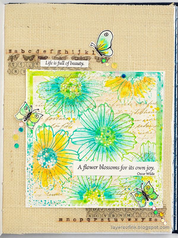 Layers of ink - Misted Flowers Art Journal Tutorial by Anna-Karin Evaldsson.