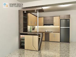 kitchen set dengan desain modern malang