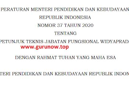 PERMENDIKBUD No 37 Tahun 2020 Tentang Petunjuk Teknis Jabatan Fungsional Widyaprada