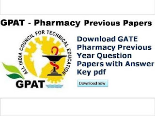 GPAT LAST 5 YEARS QUESTIONS PAPERS WITH ANSWER