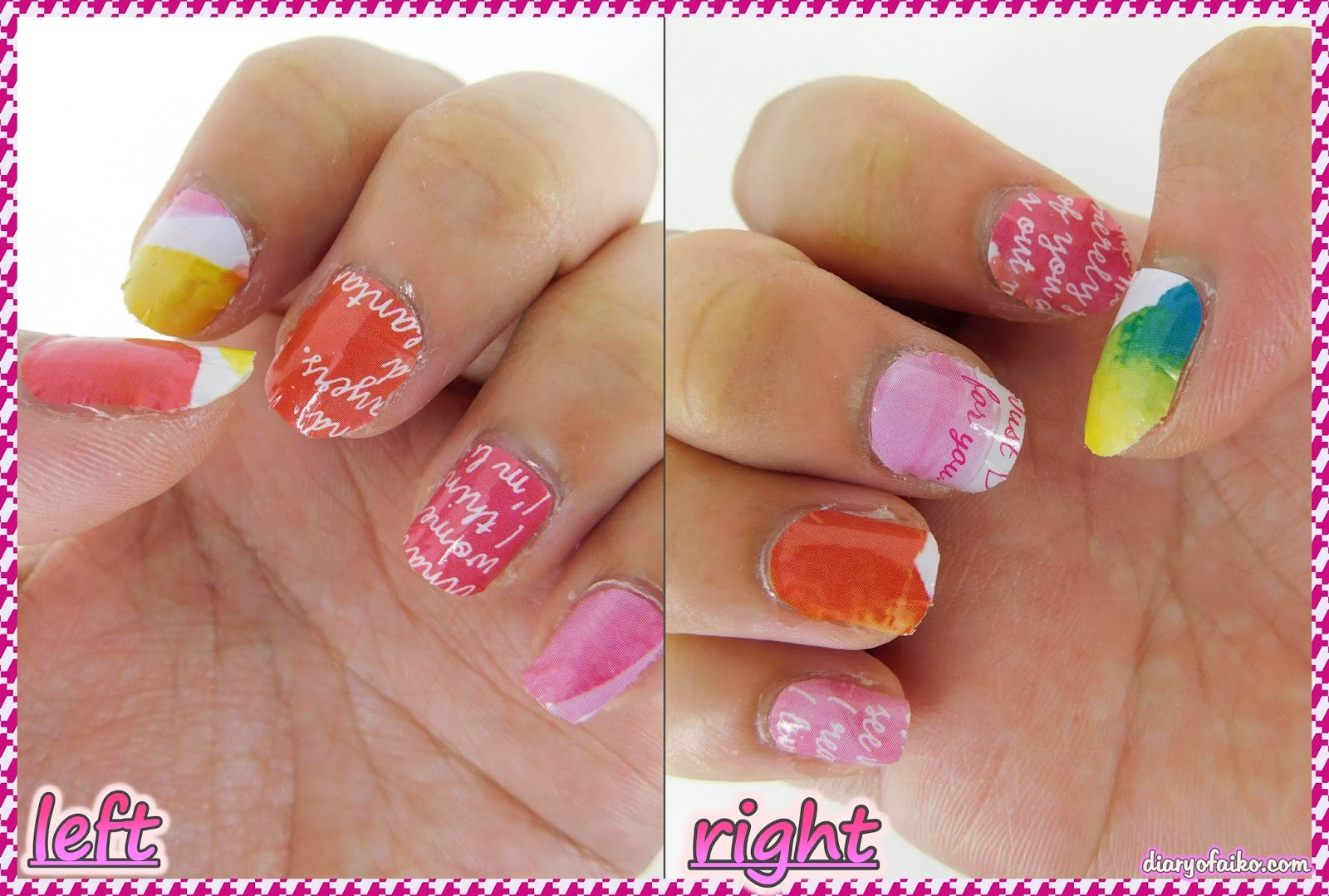Review ♥ LOUJENE TOKYO Salon Nail Sticker (34 Flower & Sweet Letter ...