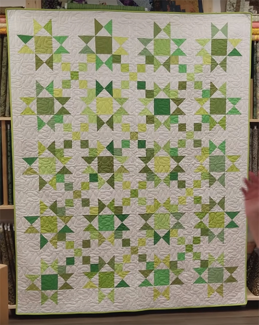 Stars & 4 patches Quilt Free Tutorial designed by Donna Jordan for Jordan Fabrics