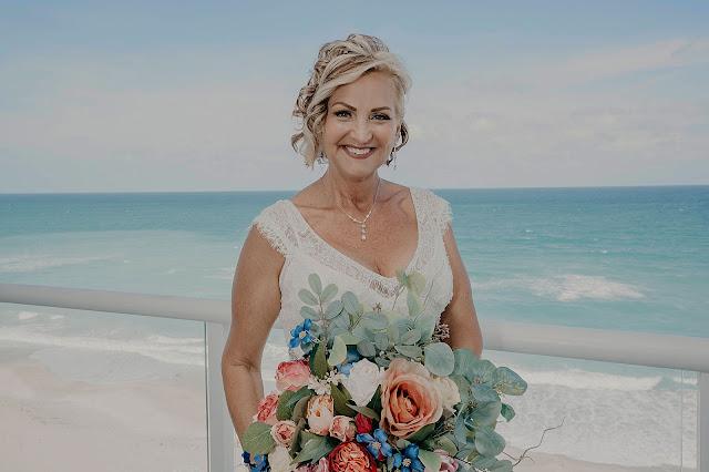 Bride portrait with flower bouquet