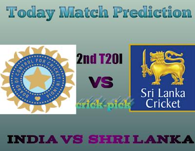 India Vs Shri Lanka-Today Match Prediction 2nd T20I-Who Will Win