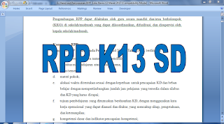 langkah penyusunan rpp k13 sd