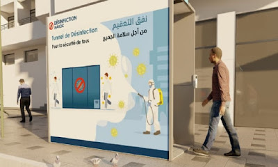 Maroc- Interdiction des passages de désinfection des personnes (communiqué officiel des 3 ministères concernés)