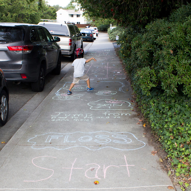 How to Design an Easy Sidewalk Chalk Obstacle Course with Kids- Fun Outdoor Quarantine Activity