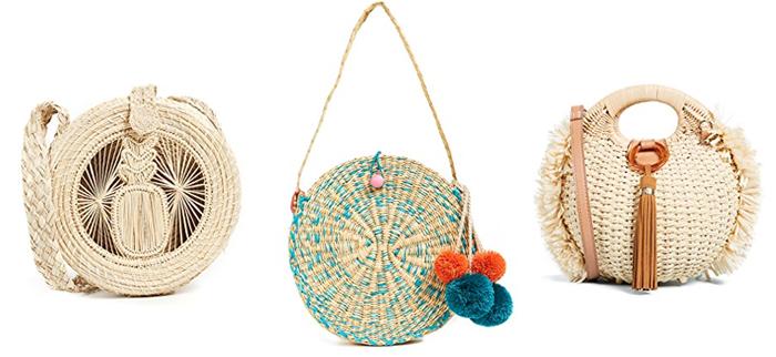 straw circular bags