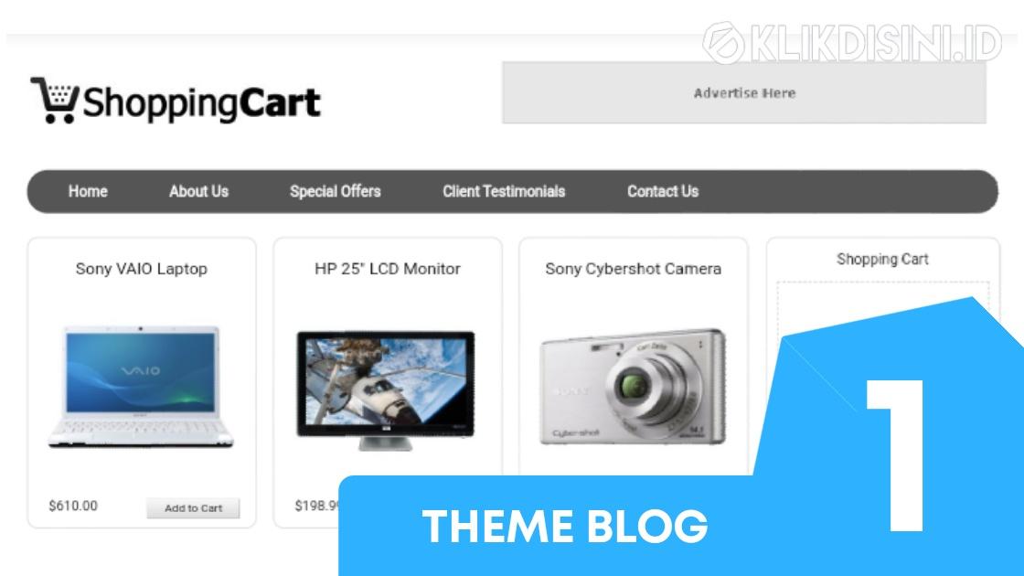 Template Blogger Toko Online Gratis Top 26 Template Blogger Responsive Premium Tanpa Cart Klikdisini Id