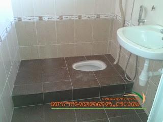 Ubahsuai 3 Bilik Air Pembongkaran Tile Lama Piping Water Proof Pemasangan Tiles