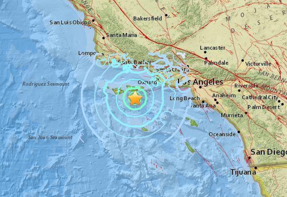 Поблизу Каліфорнії стався землетрус магнітудою 5,3