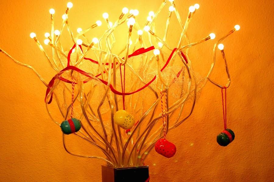bolas navidad con huevos kinder, teje en Peques