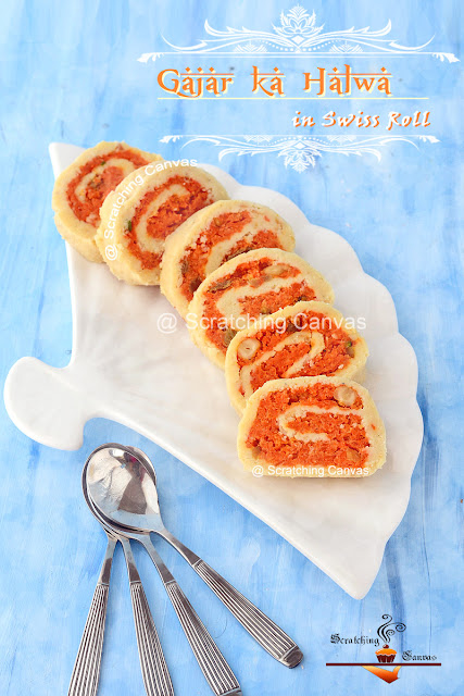 Gajar ka Halwa Food Photography | Carrot Pudding Mawa Roll Recipe