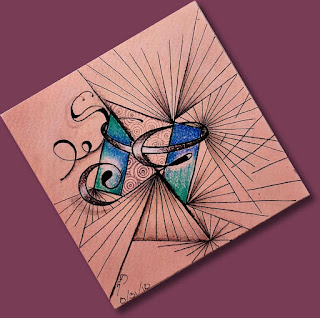 Summer Tangles 2018 August 21st - Embedded Letters with Twilight and Sez
