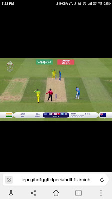 live cricket on Mobile