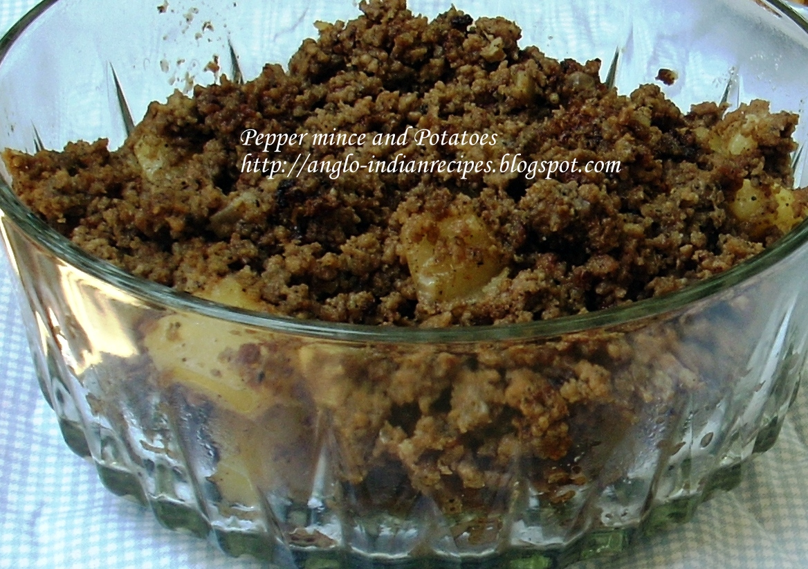 Anglo Indian Recipes By Bridget White Beef Pepper Mince