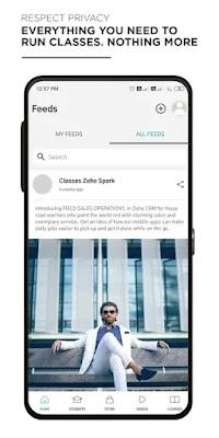 Screenshot Zoho Classes - Apcoid