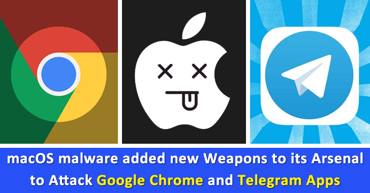 macOS Malware Added New Weapons to Its Arsenal To Attack Google Chrome & Telegram