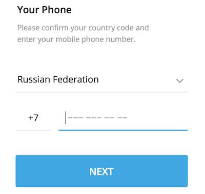 Регистрация Телеграмм с новым мобильным номером