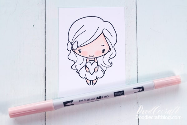 Tombow ABT Pro Alcohol Ink Markers Skin Coloring Tutorial