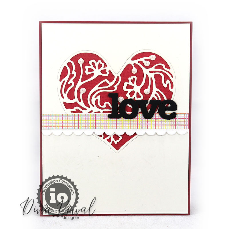 Dies DIE933 Quilted Frame Impression Obsession