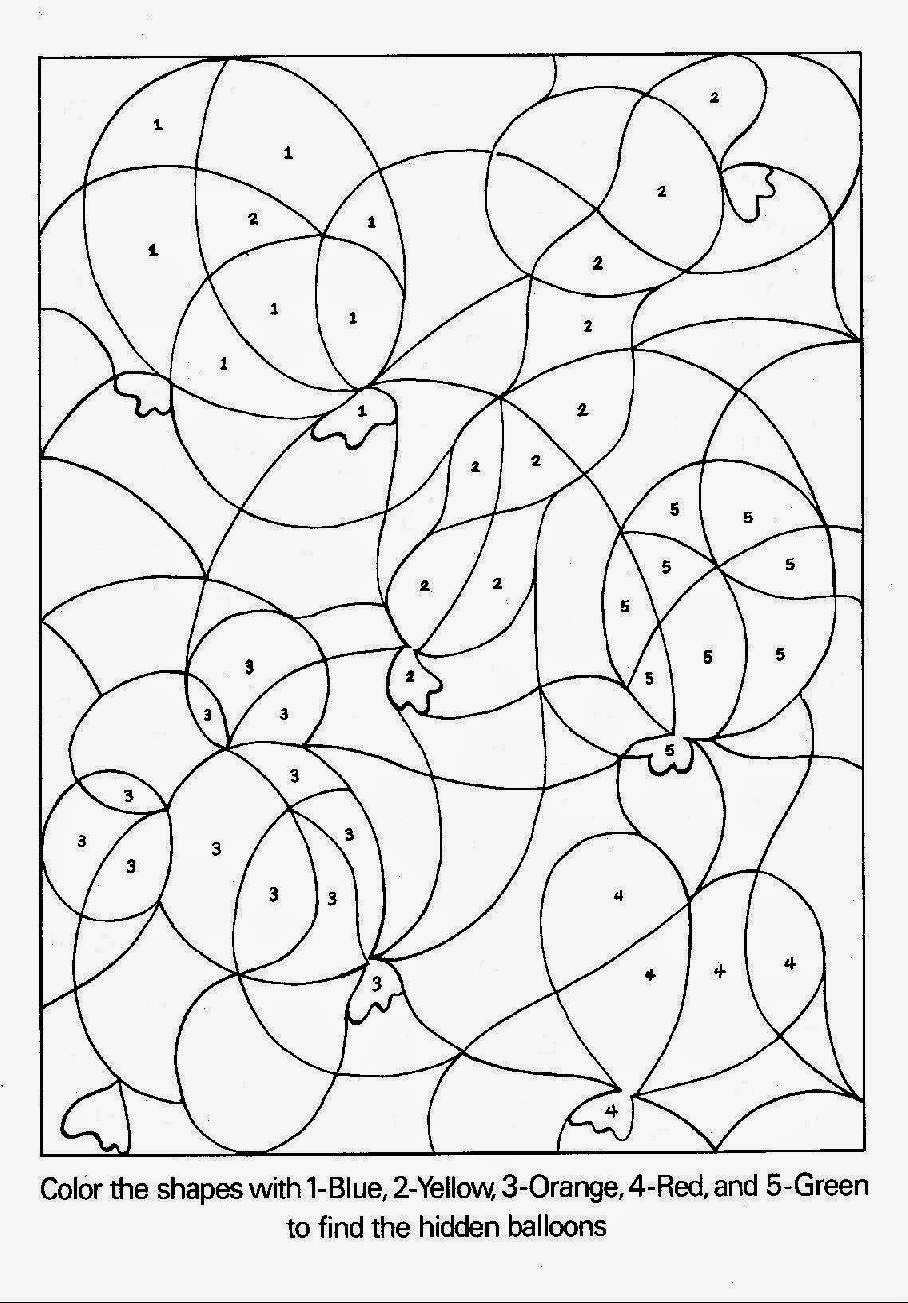 free printable color by number coloring pages for kids coloring