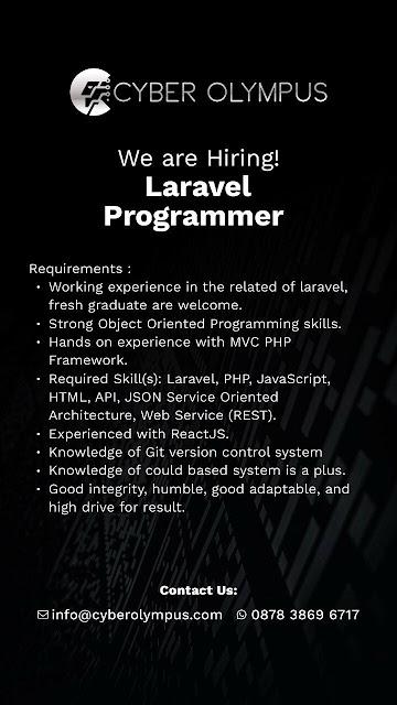 Lowongan Kerja Laravel Programmer