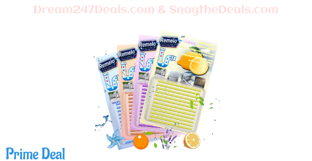 50% off Drain Cleaner Sticks, Non-Toxic Sink Clean Deodorizer for Kitchen Bathroom Drains Sinks Pipes Septic Tank Safe Drain Sticks- Prevents Clogged Drains in 4 Color Set