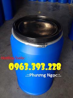 Thùng phuy nhựa nắp mở, thùng phuy nhựa đựng thực phẩm Thung-phuy-nhua-220l-nap-mo-622492j284