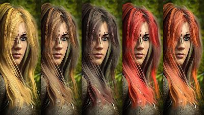 Zoe Hair for Genesis 3 Female