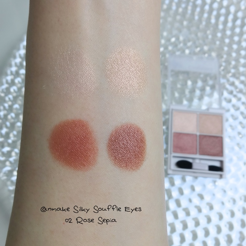 Canmake Silky Souffle Eyes 02 Rose Sepia swatch
