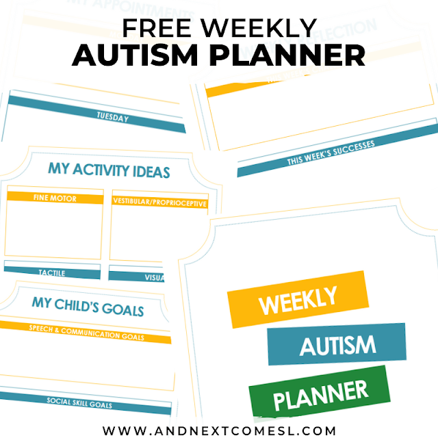 Autism planner printable and newsletter