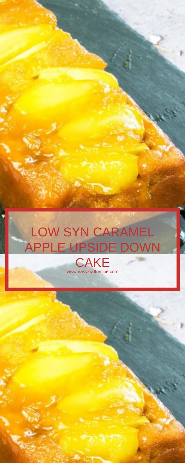 LOW SYN CARAMEL APPLE UPSIDE DOWN CAKE