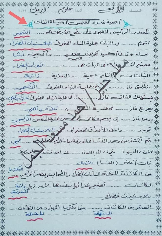 """مراجعة ليلة الإمتحان علوم ورياضيات للصف الرابع الإبتدائى ترم ثانى """"مقرر ابريل"""" أ/ أحمد مسعد الجمل  6"""