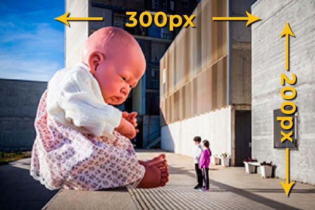 Recorte y ampliación de una foto de 200x300px