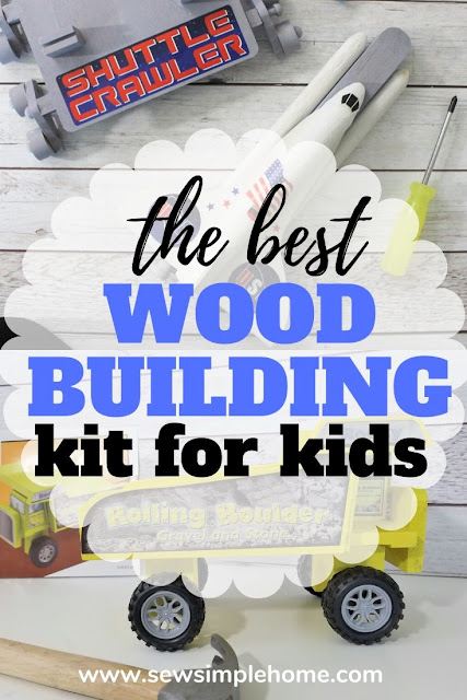 The best wood building kits for kids ages 7-12 with real wood projects and fun finished toys.