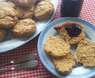 Sweet Potato Biscuits with Blackberry Jam