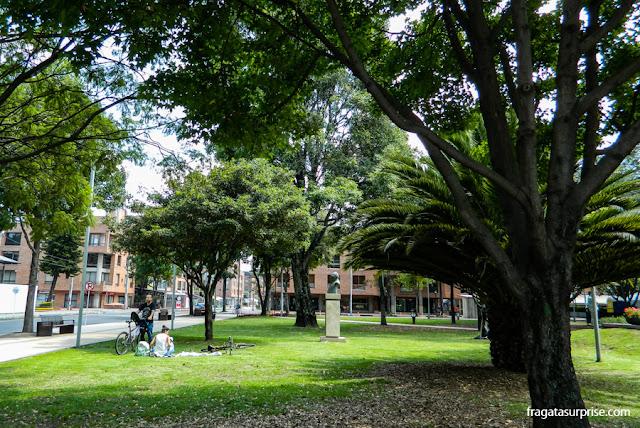 Parque de la 93, em Bogotá, Colômbia