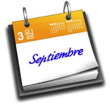 Resultado de imagen de información fechas de septiembre 2017