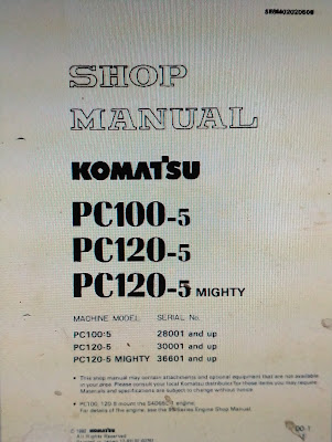 PC100-5 pc120-5 komatsu shop manual