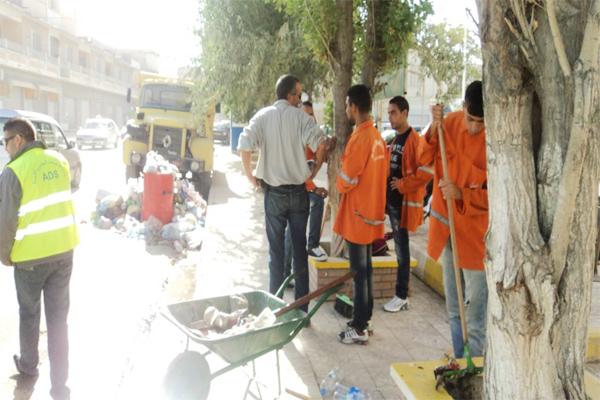 دخول حملة التنظيف أسبوعها الثاني بمدينة الشلف