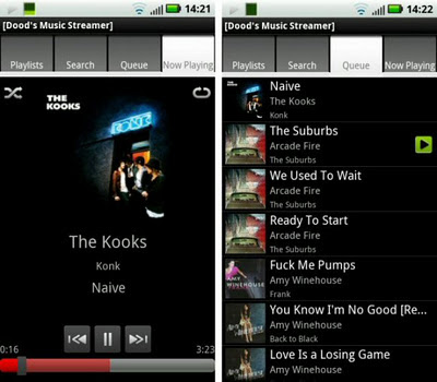 android underground: Free streaming music player shootout: Dood's