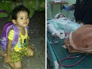 Intan Olivia, korban tewas bom Gereja Oikumene, Samarinda
