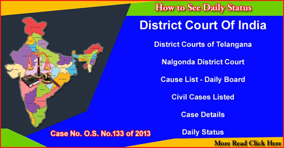 Bhongir Court O.S. No. 133 of 2013 Daily Status